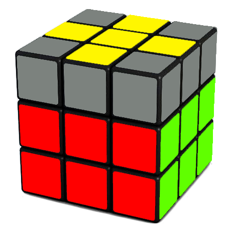 Forming the cross on the top of the Rubik's Cube F R U Ri Ui Fi