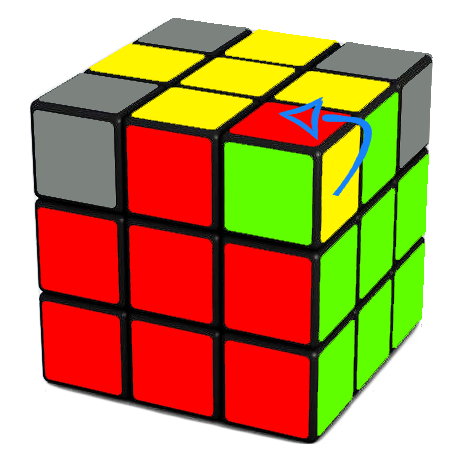 Orienting the last 4 corners of the Rubik's Cube Ri Di R D repeat as neccessary