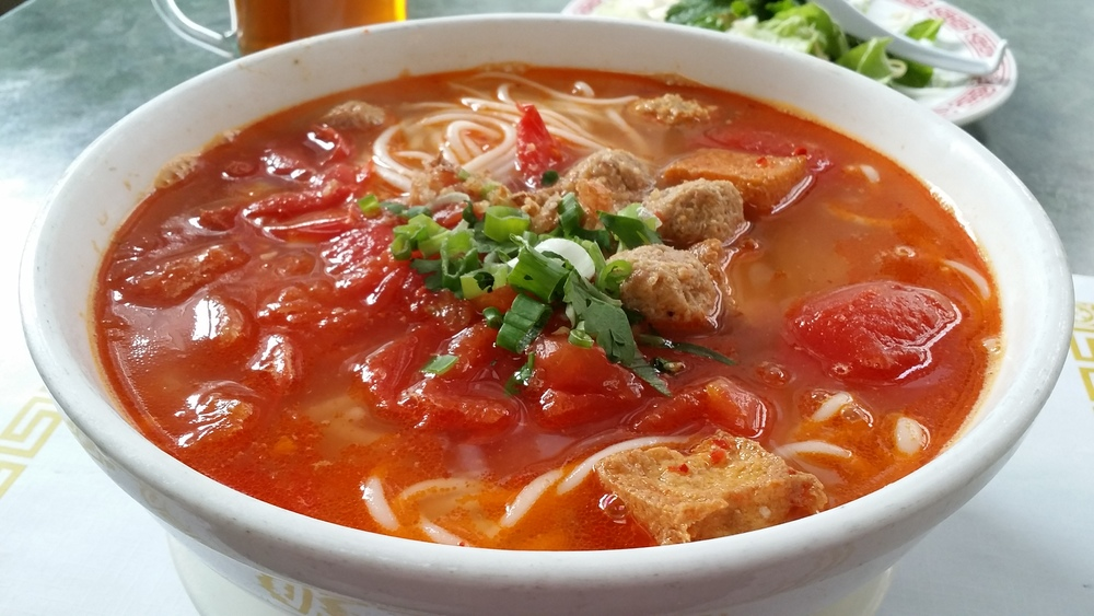 """Bun Rieu"" Crab Meatball Noodle Soup"