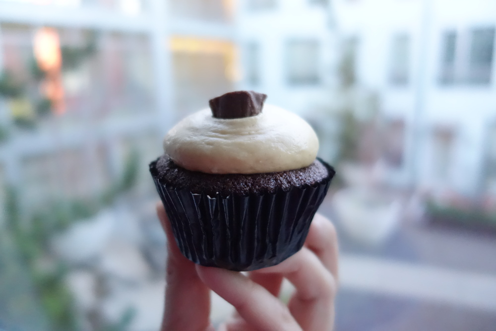 Peanut Butter Cup Cupcake by We The Minis  .