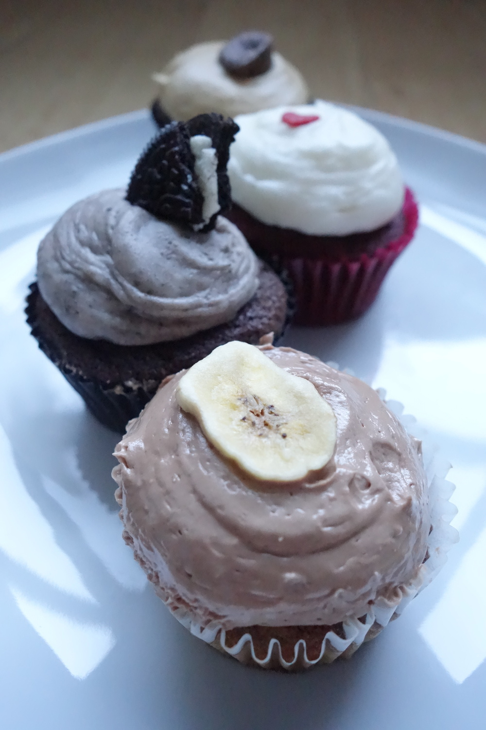 Banana Nutella Cupcake (Front) by We The Minis.