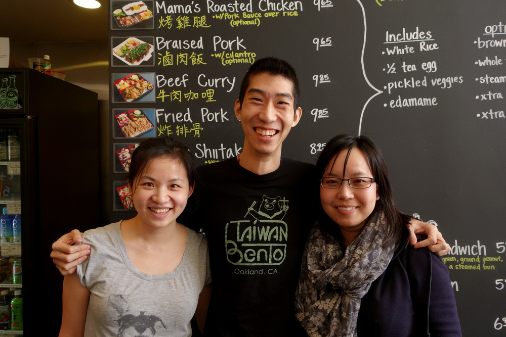 Stacy Tang (Left), Willy Wang (Center) & Sandy Elle (Right) at Taiwan Bento.