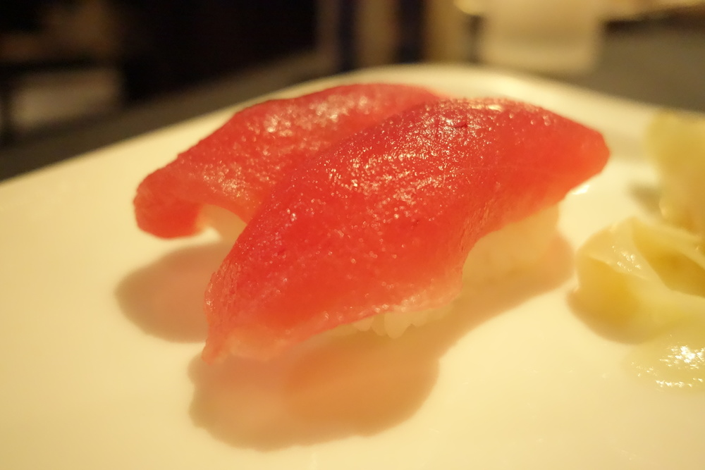 Maguro Tuna Nigiri at Anzu Restaurant and Bar.