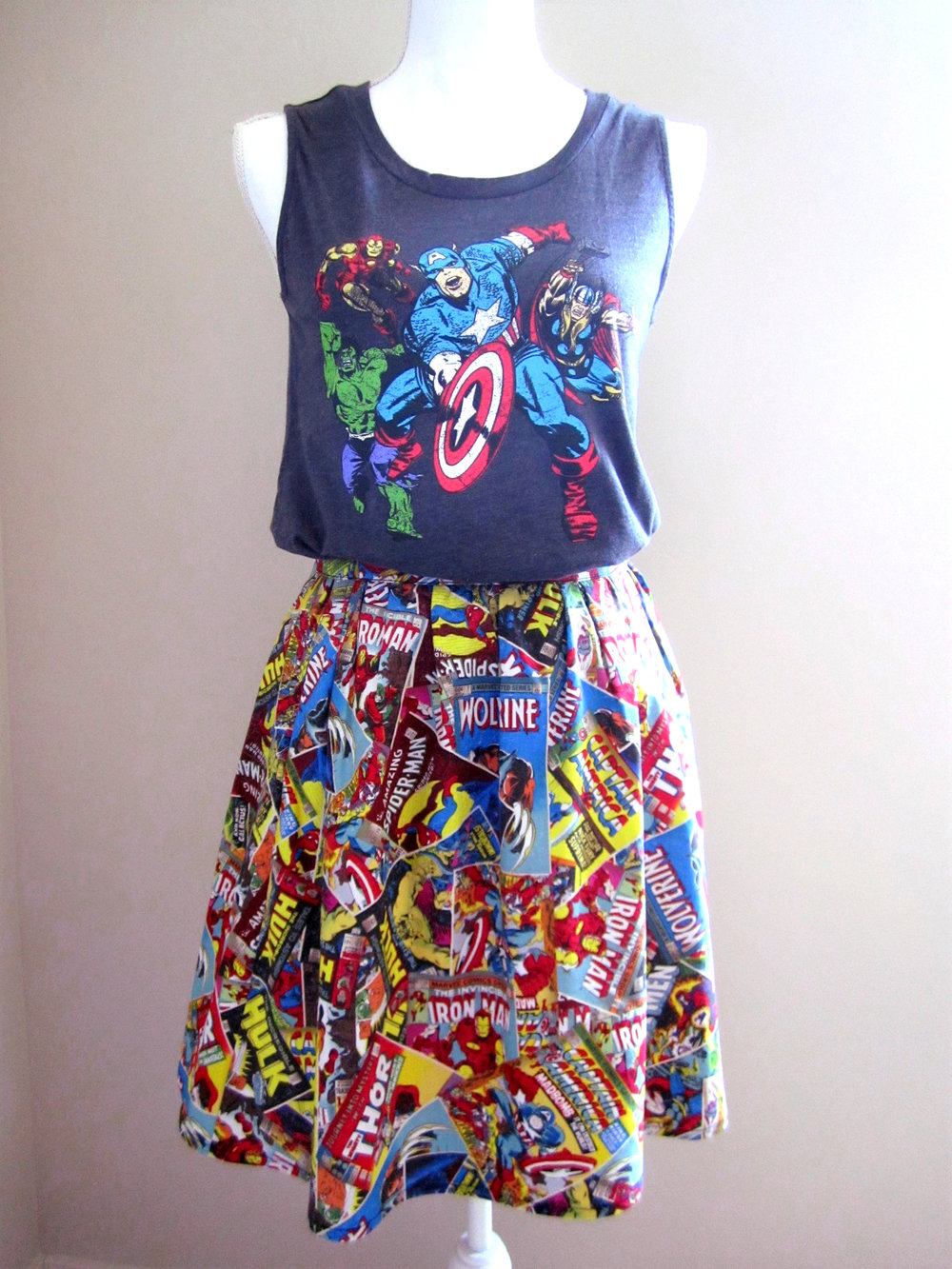Superhero Comics Skirt