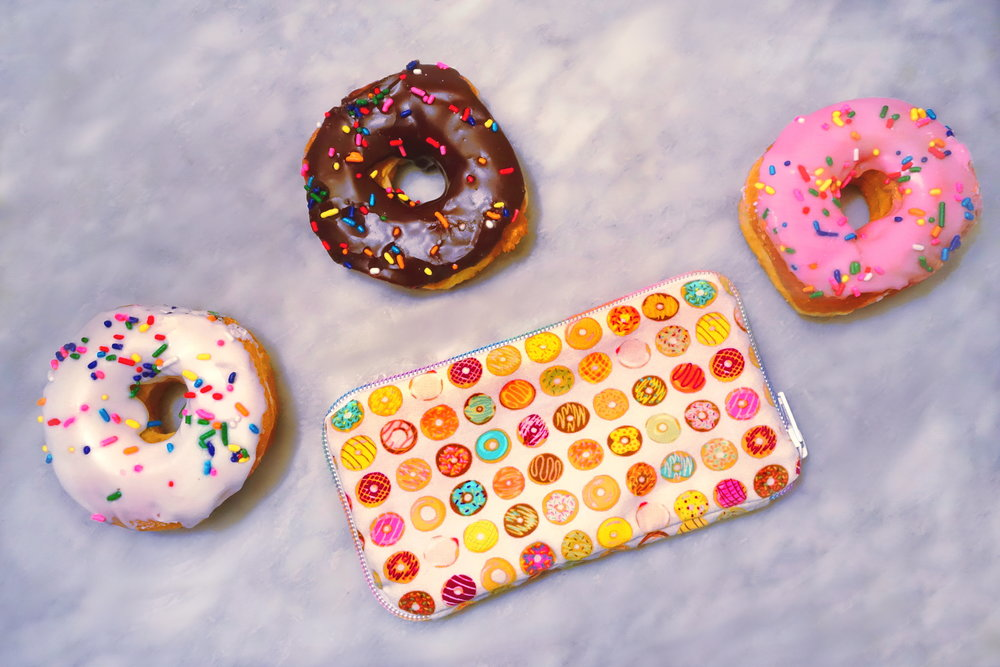 Colorful Handmade Donut Checkbook by BYMUN. Donuts by Dunkin' Donuts.