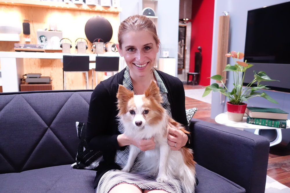 Kristie Middleton, author of MeatLess, with Foxy, the CFO (Chief Fun Officer) of TheLoveStory.org