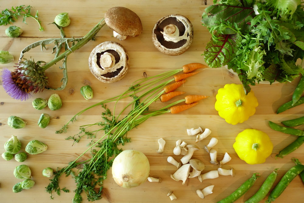 Raw ingredients being prepared