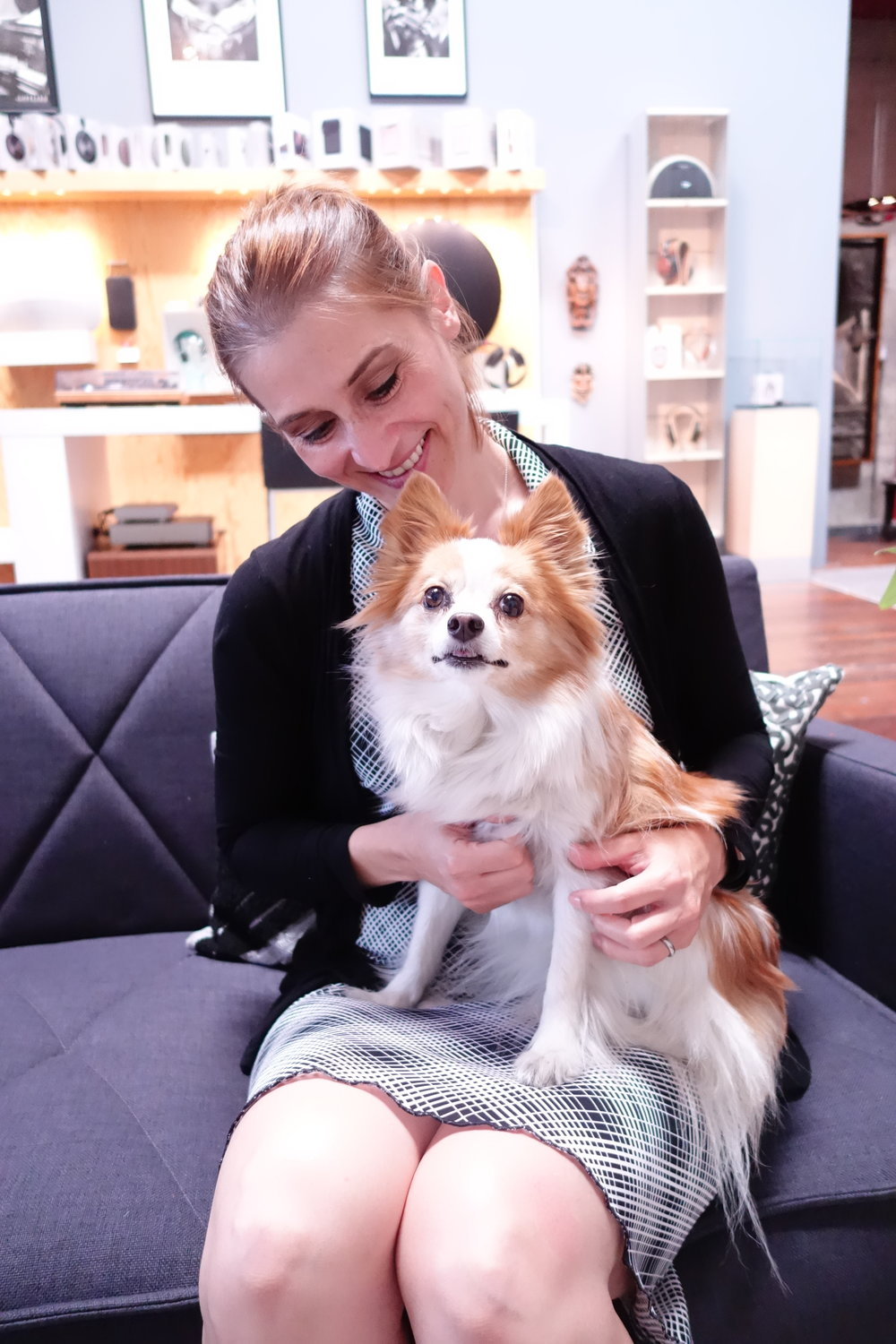Kristie Middleton with Foxy.