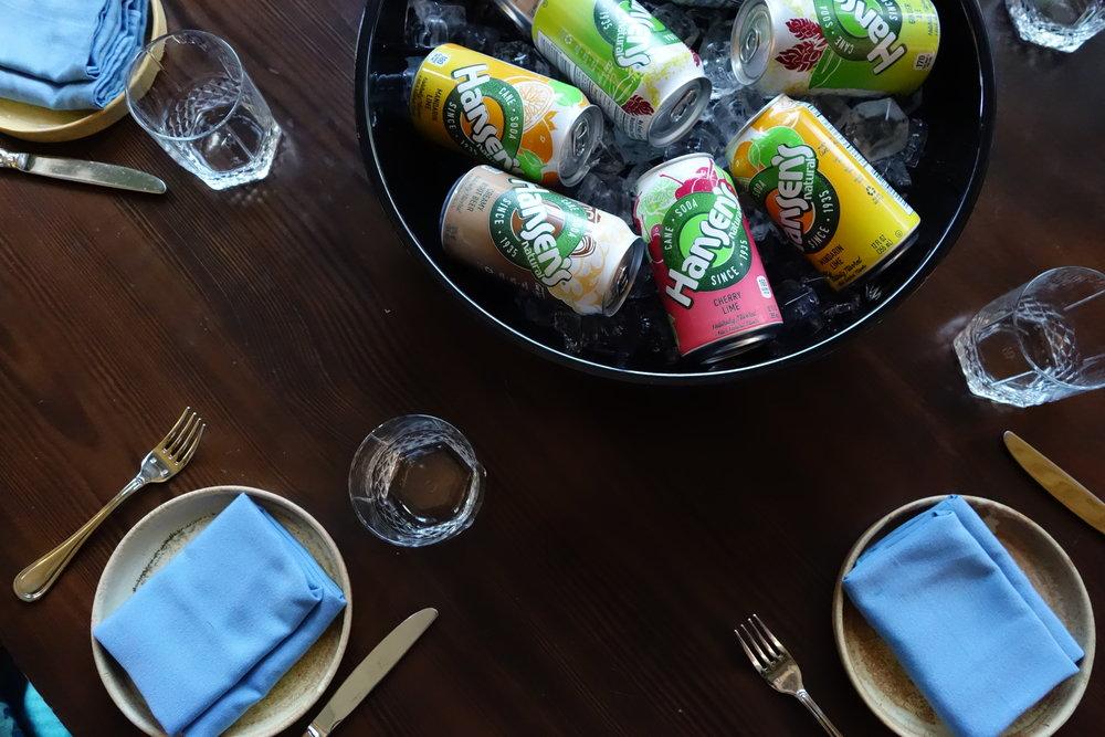 Hansen's Natural Sodas.