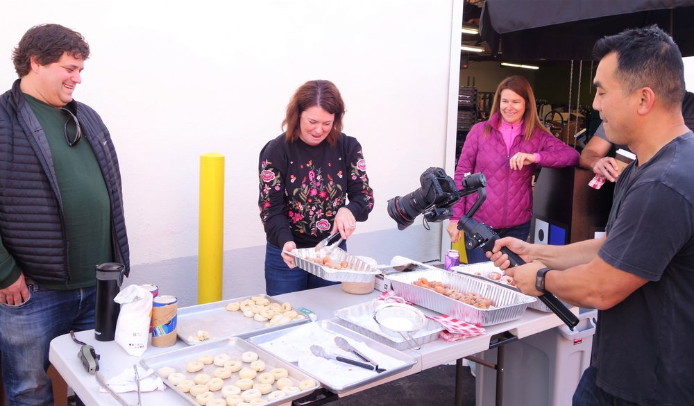 "The ""Donuts for Donations"" Volunteer Team at Goodwill San Rafael"