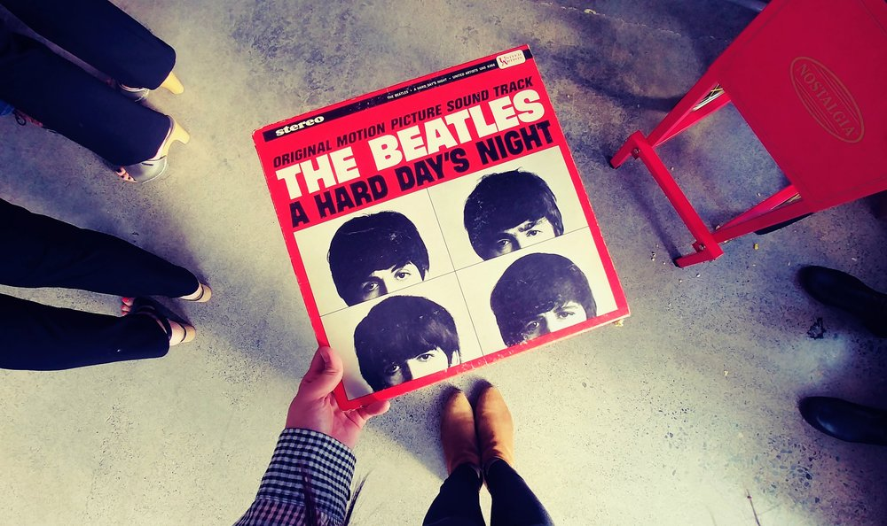 "A vintage album find of ""A Hard Day's Night"" by The Beatles at the Goodwill San Rafael Store"