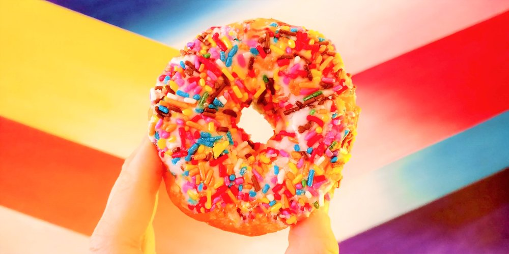 """""""Sprinkly Guys"""" Doughnut by Johnny Doughnuts"""