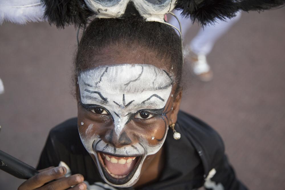 A girl dresses up for Día de Todos Santos (All Saints' Day) in Cartagena, Colombia.