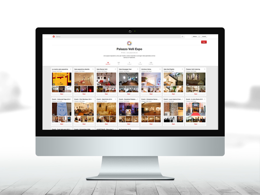 Gestione account Pinterest