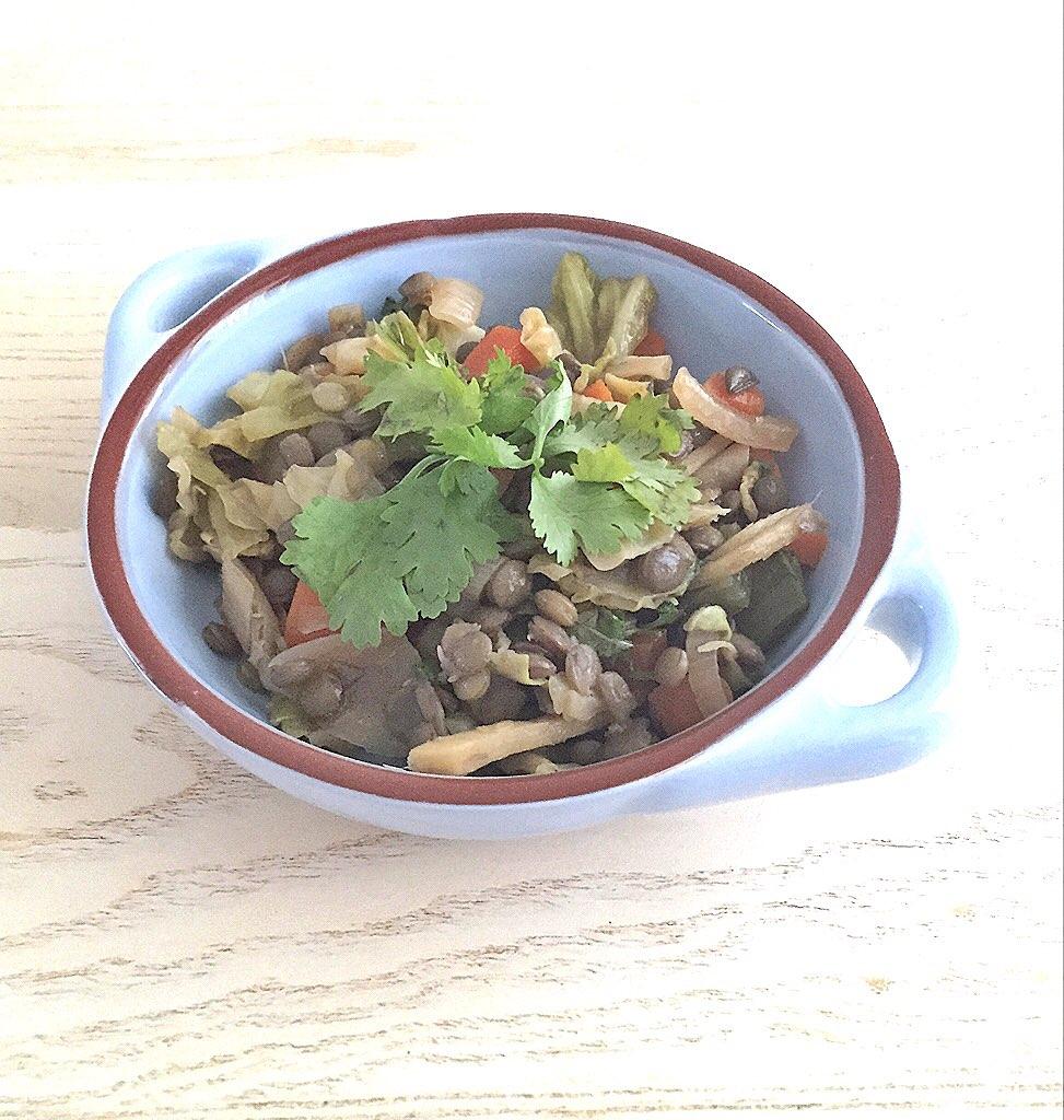 Lentil & Veggie Stir fry