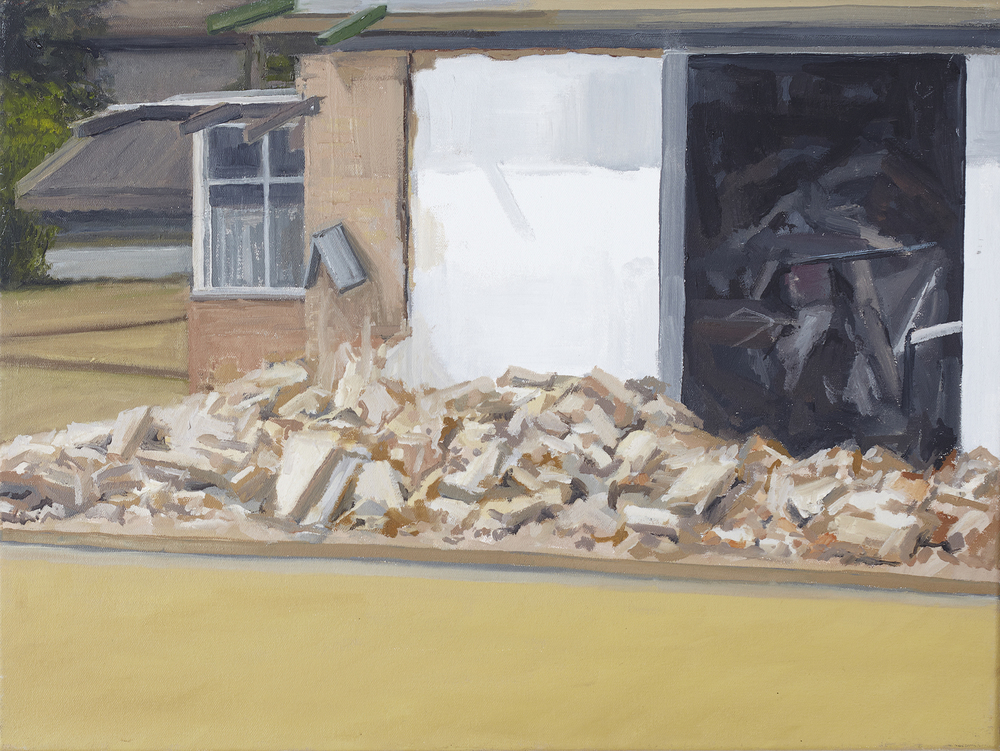 Bowling Club Rubble 2010 Oil on Canvas  41 x 31cm