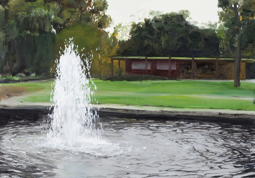Fountain 2010 Oil on Board 45 x 31.5cm