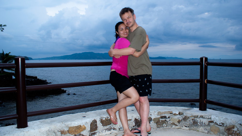 Jo and I at Bauan Diver's Sanctuary, following the wedding of Geline and George