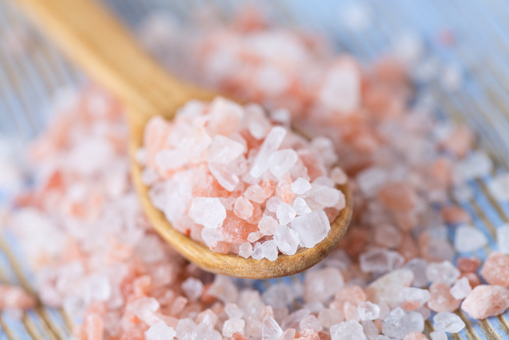 Himalayan rock salt - Himalayan Rock Salt is the purest salt on earth with the highest mineral content. It exfoliates your skin whilst the oils nourish and replenish.