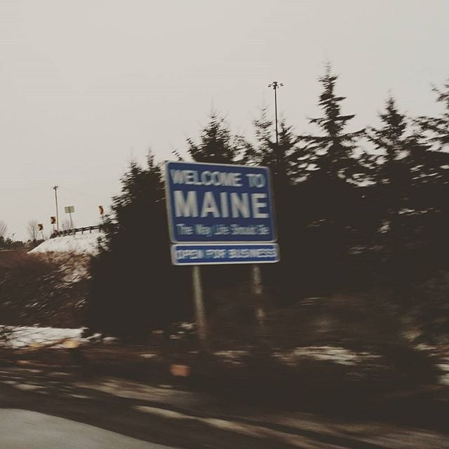 #maine At 70mph. The way life should be.