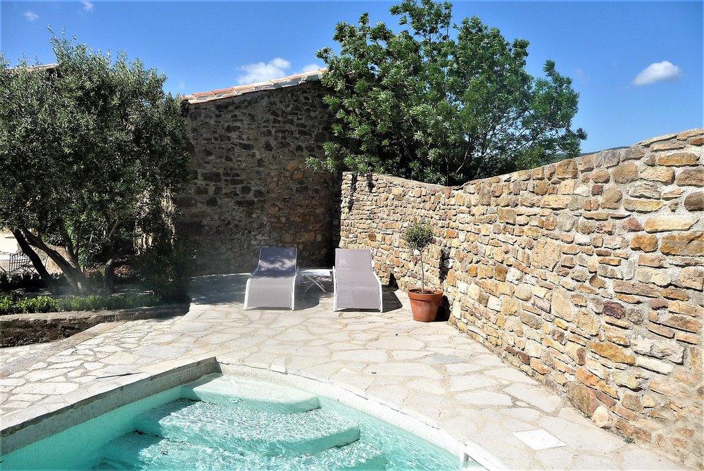 terrace  et piscine