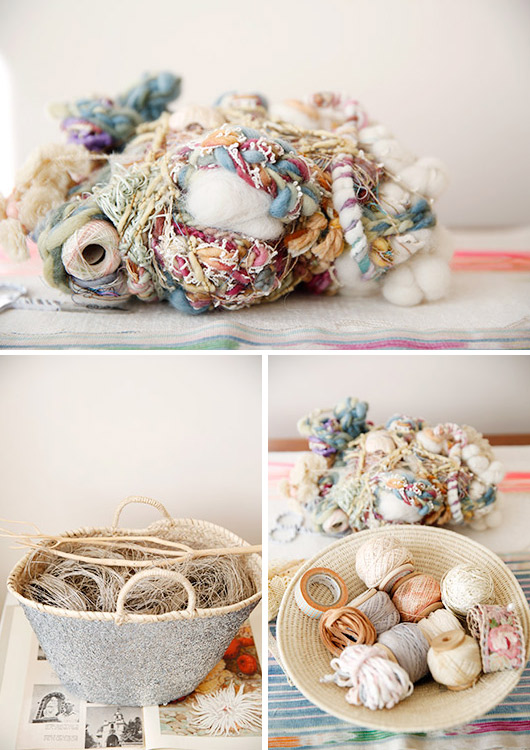 Lost in Fiber | studio objects + fiber materials | photo by Leslie Santarina for SF Girl By The Bay