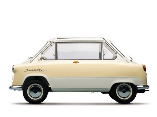 'Zündapp Janus' was a microcar made by Zündapp in Germany between 1957 and 1958. It exhibited a unique 'coming and going' look, like the dual faces of the Roman god, Janus.