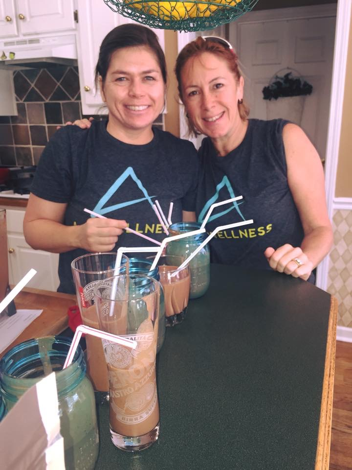 My workout partner Kris and I recently learned some new smoothie recipes from A and A Wellness.