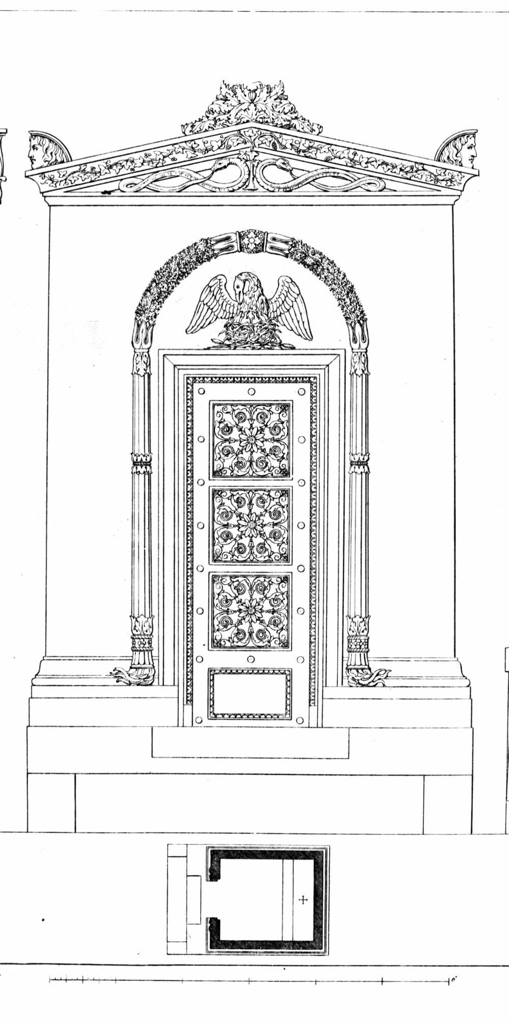"""""""Unknown""""  Monuments funéraires choisis dans les cimetières de Paris et des principales villes de France,  2nd part, 1863, by L. Normand ainé plate 19"""