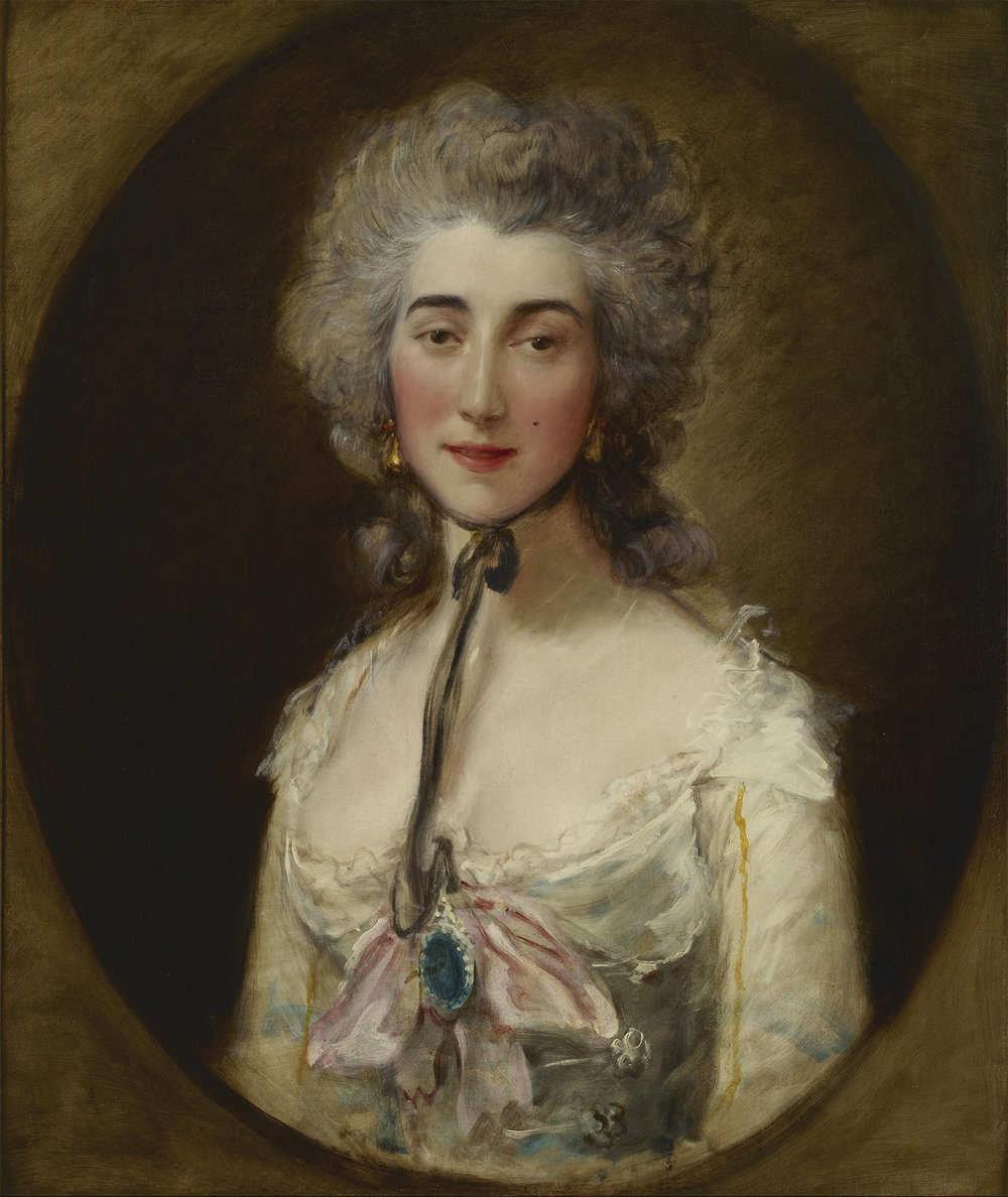 Grace Elliott painted by Thomas Gainesborough, Frick Collection, NY, NY, USA