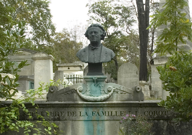 Bust of Corot by Michel Béguine