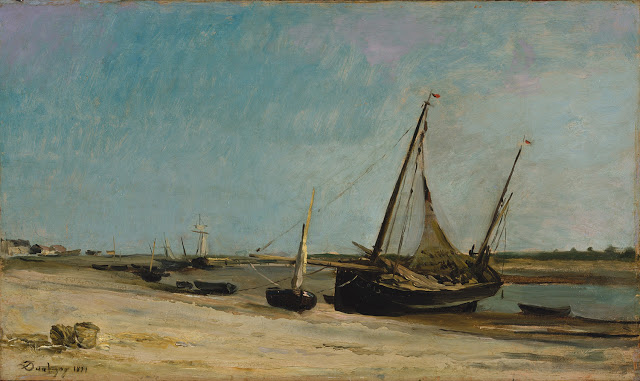 Boats on the seacoast at Étaples , 1871, Metropolitan Museum of Art, NY, NY, USA
