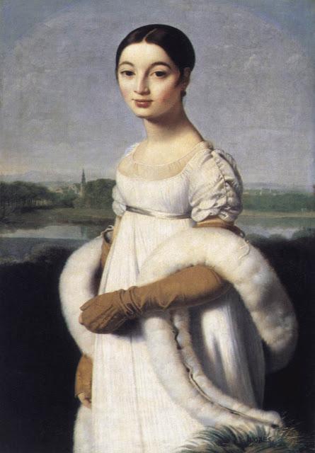 Mademoiselle Caroline Rivière,  1806, Louvre, Paris