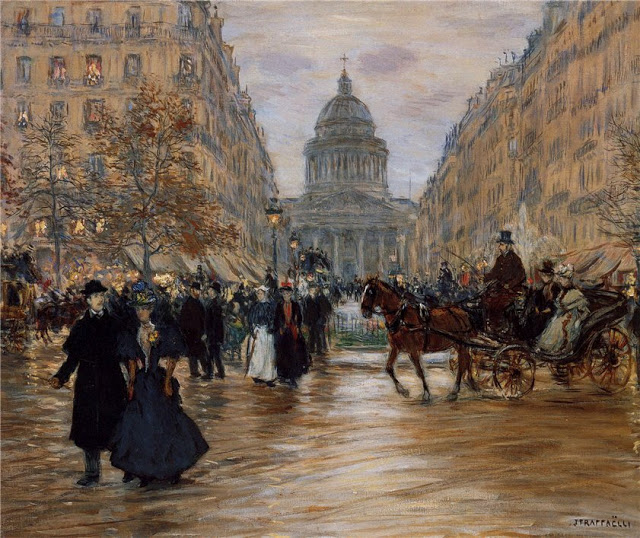 Boulevard Saint-Michel , 1890, The Pushkin State Museum of Fine Arts, Moscow