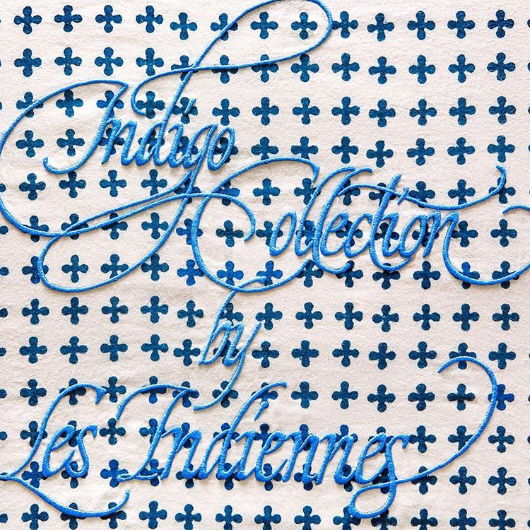 Embroidery for the Indigo Collection by Les Indiennes