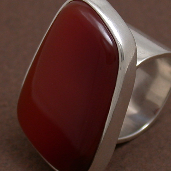 Carnelian Sterling Silver Ring - Kim Drosdick, flux + form