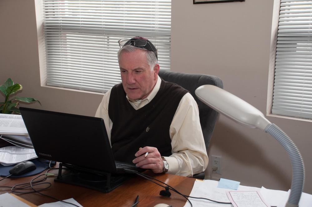Rabbi Sternstein at work...