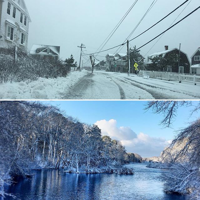 That was one heavy storm! But man, it sure did produce some really beautiful scenes in the aftermath! #snowplowing #snowstorm2018 #capecod