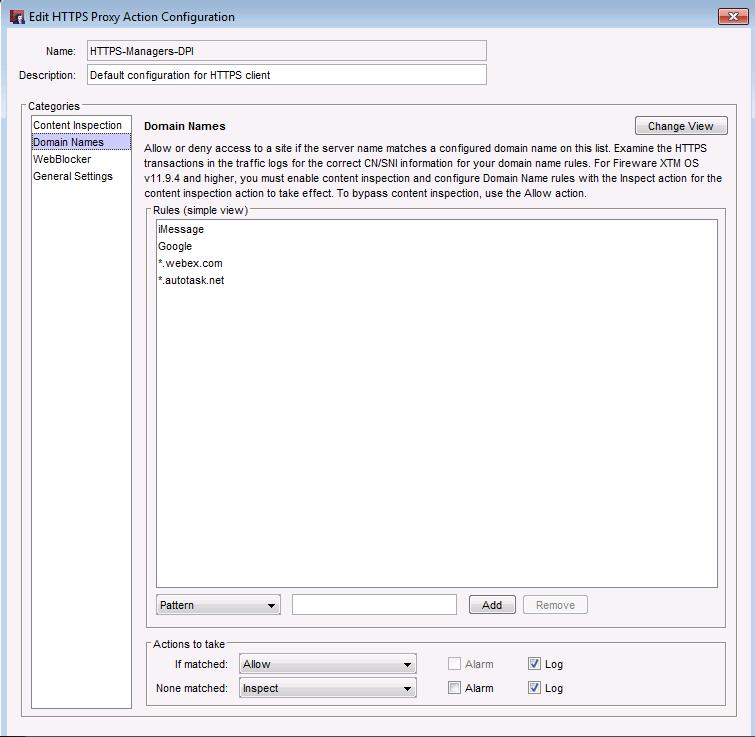 WatchGuard Deep Packet Inspection (DPI)