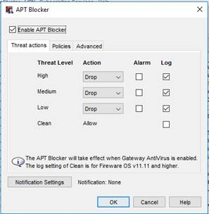 WatchGuard APT Blocker Configuration