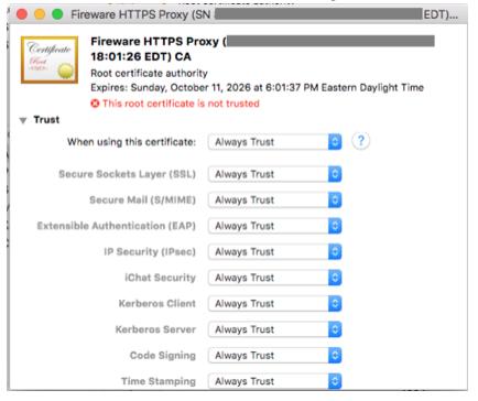 Trusting a Certificate on a Mac
