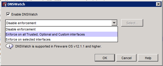 Checkbox for Enable DNSWatch image