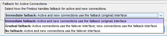 Failback for Active Connections screenshot