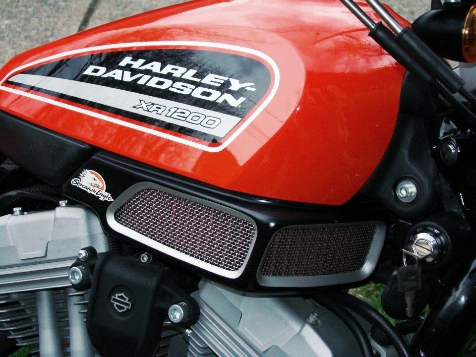 Luchtfilter  voor een Harley Davidson.