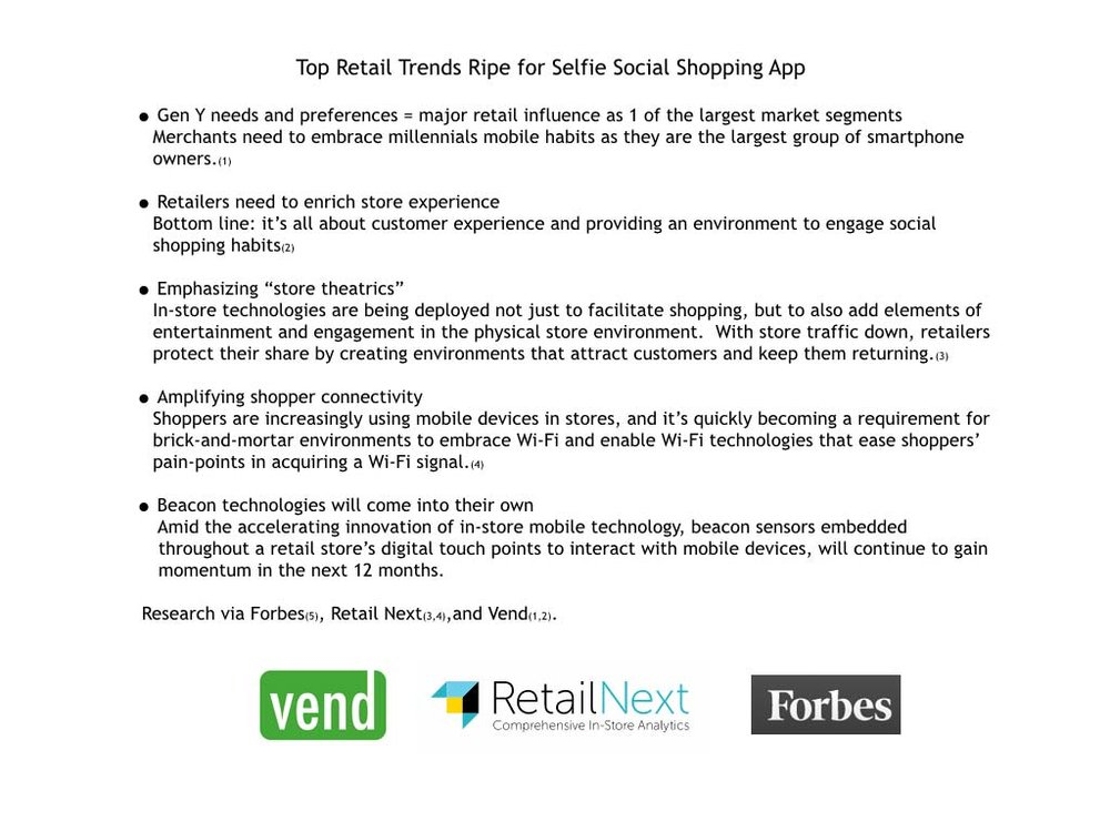 Trend and market analysis for social shopping app
