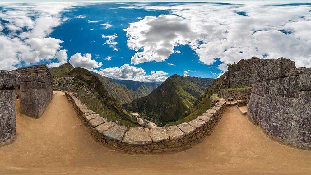 Machu Picchu view by VR company YouVisit