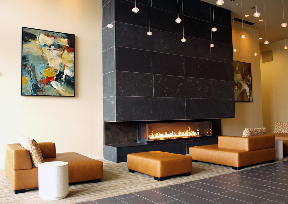The Station at Othello Park apartments (Seattle) — 29 pieces commissioned by LAIR Design, Seattle:   www.lairdesign.net   — lobby