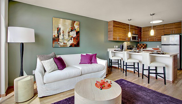 The Station at Othello Park apartments (Seattle) — 29 pieces commissioned by LAIR Design, Seattle:   www.lairdesign.net   — model home