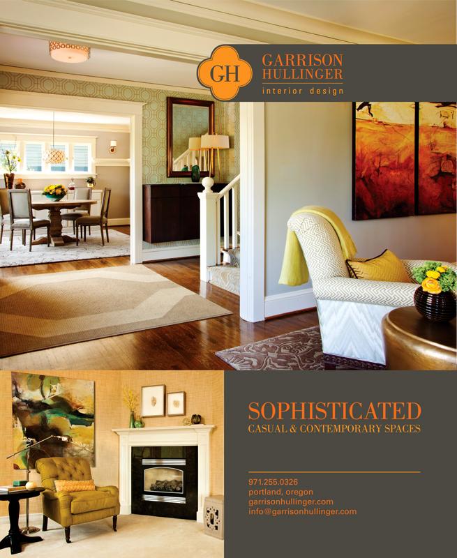 ad for  Garrison Hullinger Interior Design  in Luxe magazine