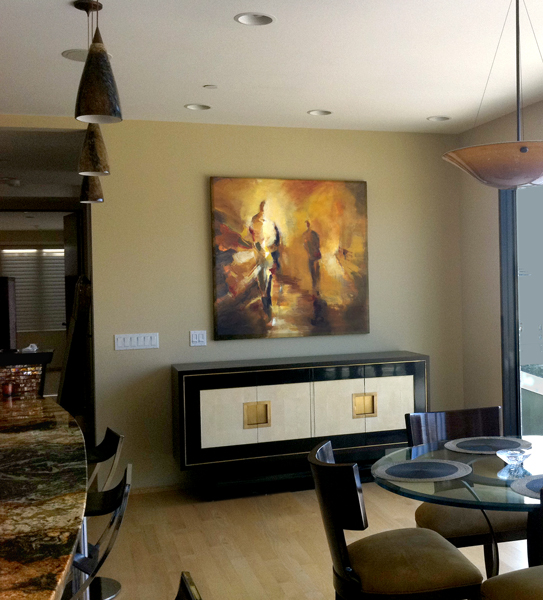 Commission in collector's home in Laguna Beach, CA